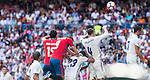 Real Madrid's player Pepe, Danilo Luiz Da Silva, /rm4/ and Cristiano Ronaldo and Osasuna player Unai Garcia and Oriol Riera during a match of La Liga Santander at Santiago Bernabeu Stadium in Madrid. September 10, Spain. 2016. (ALTERPHOTOS/BorjaB.Hojas)