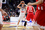 Real Madrid's Rudy Fernandez and Crvena Zvezda Mts Belgrade's Marko Simonovic during Turkish Airlines Euroleague match between Real Madrid and Crvena Zvezda Mts Belgrade at Wizink Center in Madrid, Spain. March 10, 2017. (ALTERPHOTOS/BorjaB.Hojas)