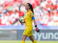 PARIS,  - JUNE 16: Christiane Endler #11 carries the ball during a game between Chile and USWNT at Parc des Princes on June 16, 2019 in Paris, France.