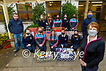 Students of the Presentation Secondary School Tralee making a donation of food to St Vincent de Paul on Thursday.. Front: Kit Ryan (St Vincent de Paul).  Kneeling l to r: Aoife Hickey, Grace McLoughlan, Aoise  Healy, Adra Konguni and Shauna Moriarty. Back l to r: James Kelly, Ellie O'Hanlon, Ciara Shark, Scarlett Bright, Megan Diggins, Isabella Bright and Jamie Blake.