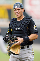 Catcher Tony Sanchez #29 of the West Virginia Power on defense versus the Hickory Crawdads at L.P. Frans Stadium August 9, 2009 in Hickory, North Carolina. (Photo by Brian Westerholt / Four Seam Images)