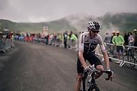 Chris Froome (GBR/SKY) coming back down the brutal Col du Portet (HC/2250m/16km at 8.7%/Souvenir Henri Desgrange) after finishing this historically short stage (only 65km)<br /> <br /> Stage 17: Bagnères-de-Luchon > Saint-Lary-Soulan (65km)<br /> <br /> 105th Tour de France 2018<br /> ©kramon