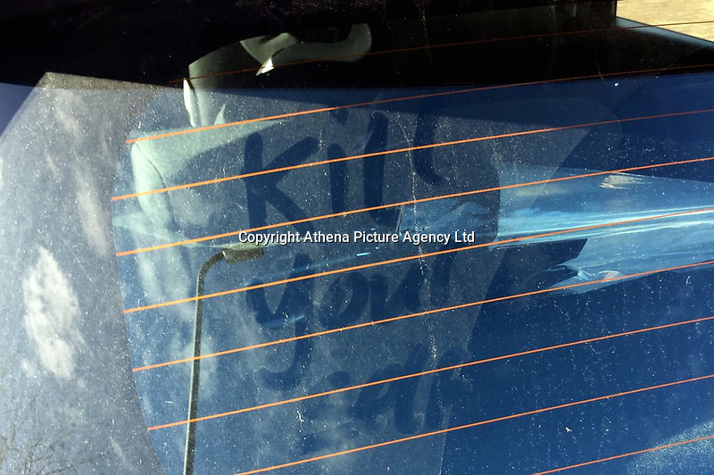 """Pictured: The """"Kill Yourself"""" message left on a private car owned by a police officer.<br /> Re: A female police officer who found the message """"Kill Yourself"""" on her private car has taken on twitter to respond. <br /> The incident happened in the Bettws area of Newport, south Wales.<br /> Head of Neighbourhood Policing, Partnerships and Uniform Operations Chief Superintendent  Marc Budden of Gwent Police said: 'Behaviour like this against our officers is really not acceptable.<br /> We fully support our officer who provided an update and suitable advice using their local Twitter page.<br /> We hope this is a reminder that our officers are people too and they work extremely hard to protect our community in Gwent.'"""