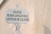 Chateau Pichon Longueville Comtesse de Lalande, pauillac, Medoc, Bordeaux, France