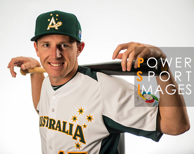 Mitch Dening of Team Australia poses during WBC Photo Day on February 25, 2013 in Taichung, Taiwan. Photo by Andy Jones / The Power of Sport Images