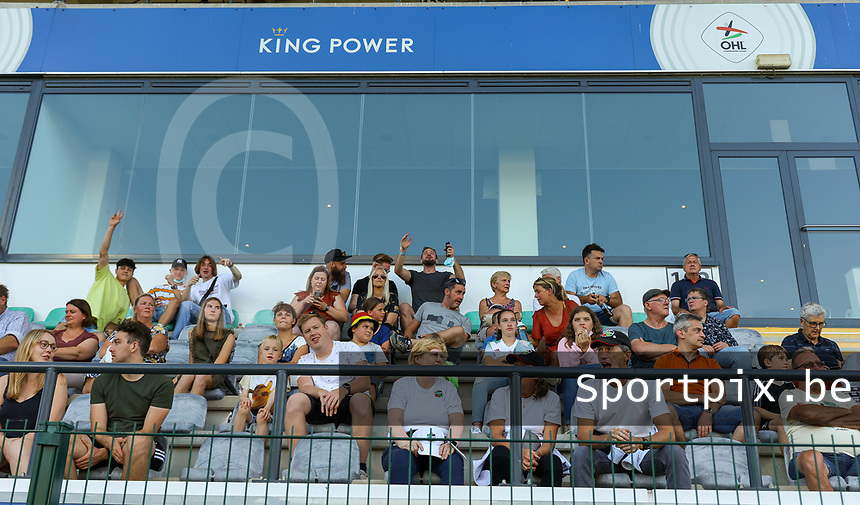 Supporters pictured before a female soccer game between Oud Heverlee Leuven and Standard Femina de Liege on the third matchday of the 2021 - 2022 season of Belgian Womens Super League , Sunday 5 th of September 2021  in Leuven , Belgium . PHOTO SPORTPIX.BE | SEVIL OKTEM