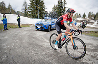 Jan Tratnik (SVN/Bahrain - Victorious) up the final part of the Monte Zoncolan <br /> <br /> 104th Giro d'Italia 2021 (2.UWT)<br /> Stage 14 from Cittadella›Monte Zoncolan (205km)<br /> <br /> ©kramon