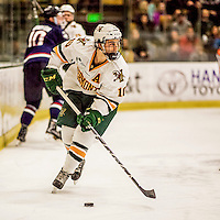 20 January 2017: University of Vermont Catamount Forward Travis Blanleil, a Junior from Kelowna, British Columbia, in second period action against the University of Connecticut Huskies at Gutterson Fieldhouse in Burlington, Vermont. The Catamounts lead throughout the game to defeat the Huskies 5-4 in Hockey East play. Mandatory Credit: Ed Wolfstein Photo *** RAW (NEF) Image File Available ***