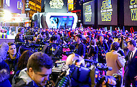 Fans flock to Leicester square in anticipation of the Movie Premiere during the STAR WARS: 'The Force Awakens' EUROPEAN PREMIERE at Odeon, Empire & Vue Cinemas, Leicester Square, England on 16 December 2015. Photo by David Horn / PRiME Media Images