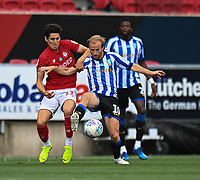 Bristol City's Callum O'Dowda (left) battles for possession with Sheffield Wednesday's Barry Bannan (right) <br /> <br /> Photographer David Horton/CameraSport<br /> <br /> The EFL Sky Bet Championship - Bristol City v Sheffield Wednesday - Sunday 28th June 2020 - Ashton Gate Stadium - Bristol <br /> <br /> World Copyright © 2020 CameraSport. All rights reserved. 43 Linden Ave. Countesthorpe. Leicester. England. LE8 5PG - Tel: +44 (0) 116 277 4147 - admin@camerasport.com - www.camerasport.com