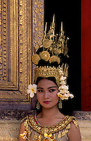 Apsara traditional dance,Images from the Book Journey Through Colour and Time, a traditional APSARA dancer in he Grand palace performing at the Royal performance Hall in Phnom Penh,Cambodia