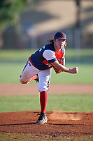 Reed Smith during the WWBA World Championship at the Roger Dean Complex on October 20, 2018 in Jupiter, Florida.  Reed Smith is a right handed pitcher from Cypress, Texas who attends The John Cooper High School and is committed to Northwestern.  (Mike Janes/Four Seam Images)