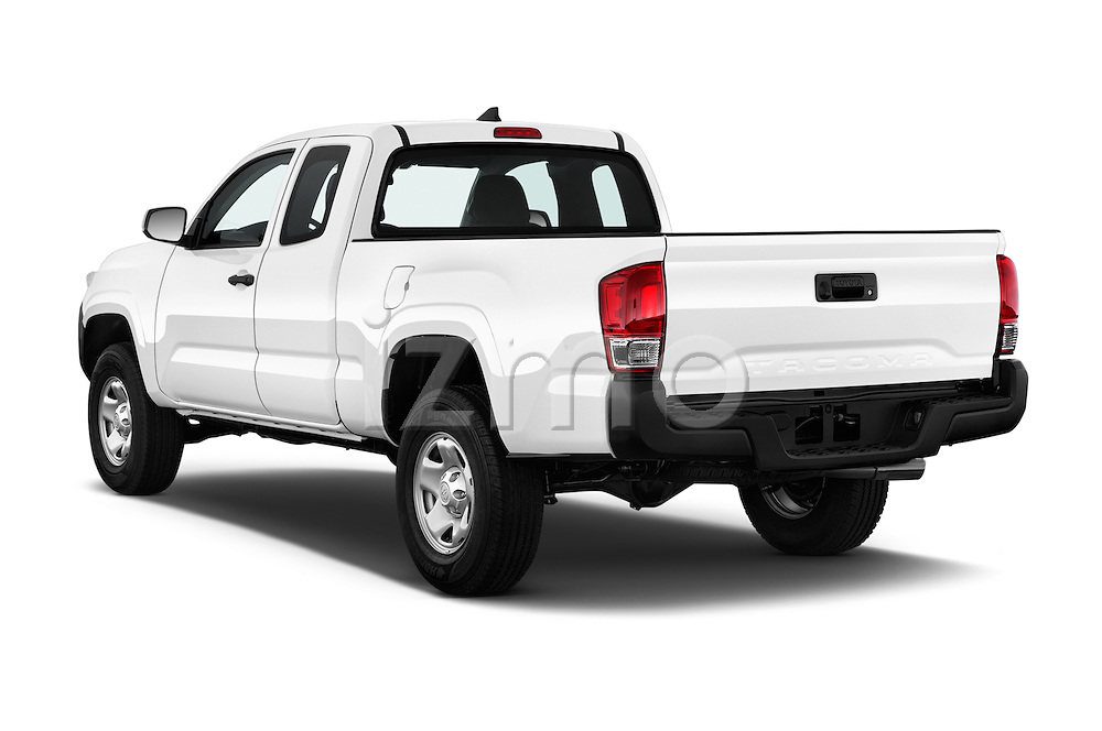 Car pictures of rear three quarter view of 2017 Toyota Tacoma SR-Access 4 Door Pick-up Angular Rear