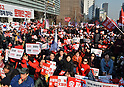 Rally against visit of Kim Yong Chol from North Korea in Seoul
