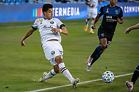 SAN JOSE, CA - SEPTEMBER 19: Marco Farfan  #32 of the Portland Timbers during a game between Portland Timbers and San Jose Earthquakes at Earthquakes Stadium on September 19, 2020 in San Jose, California.