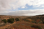 Judea, Gush Etzion. looking east from Ein el Kasis, Beth Jala is in the background