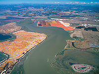 aerial photograph salt ponds, Napa River, Napa County, California