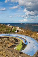 Europe/France/Bretagne/35/Ille et Vilaine/Côte d'Emeraude/Cancale: Pointe du Grouin - la Table d'Orientation   // France, Ille et Vilaine, cote d'emeraude (Emerald Coast), Cancale,The Pointe du Grouin  Viewpoint