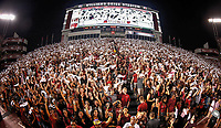 The South Carolina student section comes alive as Sandstorm is played before a game at Williams-Brice Stadium in Columbia. (Travis Bell/SIDELINE CAROLINA)