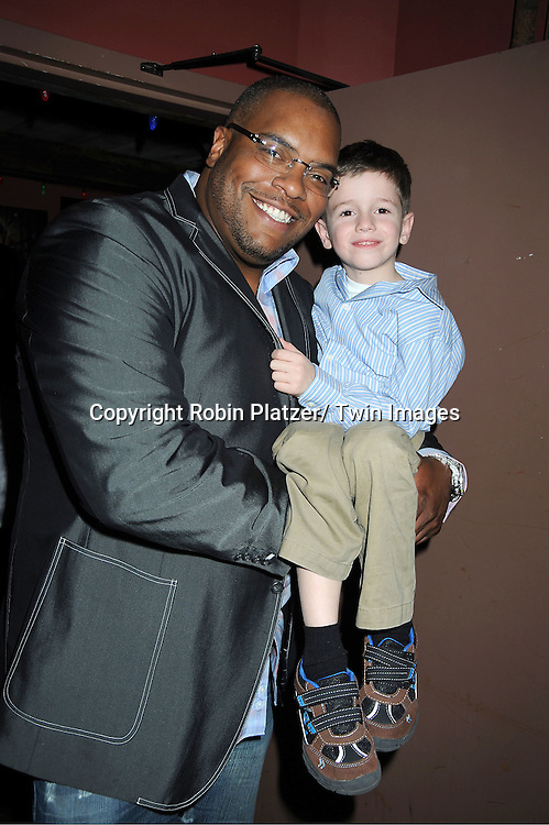 Sean Ringgold and Patrick Gibbons, Jr attend The One Life To Live Benefit for The Amber Roach Memorial Garden on January 7, 2012 at Brother .Jimmy's Union Square Restaurant in New York City.