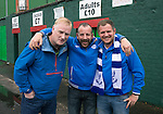 Glentoran v St Johnstone…. 09.07.16  The Oval, Belfast  Pre-Season Friendly<br />From left, Tam Allan, Mike Nodes and Gareth Nodes<br />Picture by Graeme Hart.<br />Copyright Perthshire Picture Agency<br />Tel: 01738 623350  Mobile: 07990 594431
