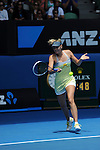 Maria Sharapova (RUS) wins at the Australian Open being played at Melbourne Park in Melbourne, Australia on January 14, 2013