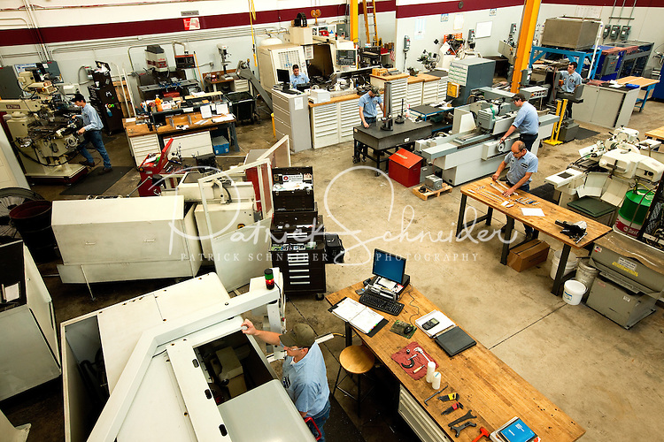 Manufacturing operations at Max Daetwyler Corporation, which manufactures equipment and products for the printing industry, including pressroom applications in the gravure and flexographic industry. The founders of Daetwyler USA started the company in 1975. Located in Huntersville, NC, the manufacturing company employs more than 70 people.