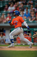 Syracuse Mets Dilson Herrera (16) bats during an International League game against the Indianapolis Indians on July 16, 2019 at Victory Field in Indianapolis, Indiana.  Syracuse defeated Indianapolis 5-2  (Mike Janes/Four Seam Images)