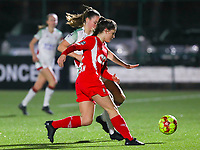 Constance Brackman (20 Standard) gives a pass during a female soccer game between Oud Heverlee Leuven and Standard Femina De Liege on the 10th matchday of the 2020 - 2021 season of Belgian Womens Super League , sunday 20 th of December 2020  in Heverlee , Belgium . PHOTO SPORTPIX.BE | SPP | SEVIL OKTEM