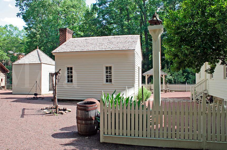 Historic Tullie Smith farm at Atlanta History Center in Atlanta Georgia