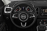 Car pictures of steering wheel view of a 2018 Jeep Compass Sport 5 Door SUV