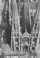 1968 FILE PHOTO -<br /> <br /> Focus of a nation's grief, the soaring spires of St. Patrick's Cathedral in New York tower above the blocks-long line of mourners waiting to file past the bier of Senator Robert F. Kennedy yesterday. is morning's Requiem Mass down the 300-foot-long centre casket of the New York senator.