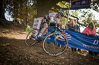 U23 World Champion Eli Yserbyt (BEL/U23/Marlux-Napoleon Games) leading the race<br /> <br /> 25th Koppenbergcross 2016
