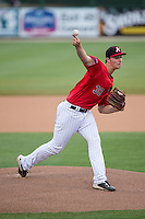 Kannapolis Intimidators starting pitcher Chris Comito (39) in action against the Hagerstown Suns at Kannapolis Intimidators Stadium on May 5, 2016 in Kannapolis, North Carolina.  The Suns defeated the Intimidators 7-0.  (Brian Westerholt/Four Seam Images)