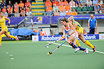 The Hague, Netherlands, June 07: Lidewij Welten #12 of The Netherlands runs with the ball during the field hockey group match (Group A) between Australia and The Netherlands on June 7, 2014 during the World Cup 2014 at Kyocera Stadium in The Hague, Netherlands. Final score 0-0 (0-2) (Photo by Dirk Markgraf / www.265-images.com) *** Local caption ***