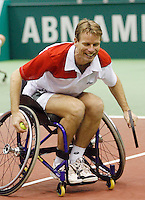 24-2-07,Tennis,Netherlands,Rotterdam,ABNAMROWTT, Wheelchair exhibition with Jan Siemerink and Ronald Vink