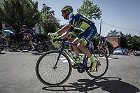 Kenny Dehaes (BEL/Veranclassic Aquaprotect) up the infamous Mur de Huy.<br /> <br /> <br /> Baloise Belgium Tour 2018<br /> Stage 4:  Wanze - Wanze 147.3km