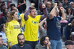 Fenerbahce Dogus supporters during Turkish Airlines Euroleague match between Real Madrid and Fenerbahce Dogus at Wizink Center in Madrid , Spain. March 02, 2018. (ALTERPHOTOS/Borja B.Hojas)