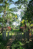 Entrance to village, Tufi, Cape Nelson, Oro Province, Papua New Guinea