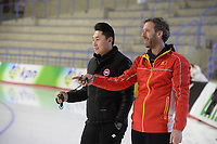 SPEEDSKATING, CALGARY, 02-03-2019, Olympic Oval, ISU World Allround Speed Skating Championships, Training, Rutger Tijssen (CHN), ©photo Martin de Jong