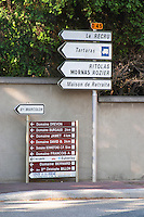 road sign ampuis rhone france