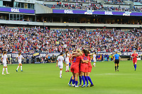 PHILADELPHIA, PA - AUGUST 29: Tobin Heath #17 of the United States celebrates scoring with teammates during a game between Portugal and USWNT at Lincoln Financial Field on August 29, 2019 in Philadelphia, PA.