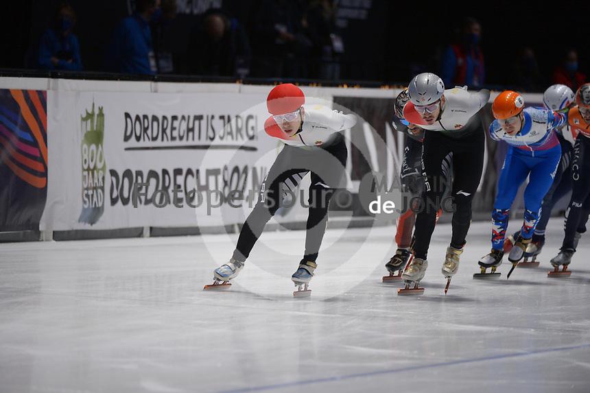 SPEEDSKATING: DORDRECHT: 07-03-2021, ISU World Short Track Speedskating Championships, 3000m Superfinal Men, Shaoang Liu (HUN), Shaolin Sandor (HUN), ©photo Martin de Jong