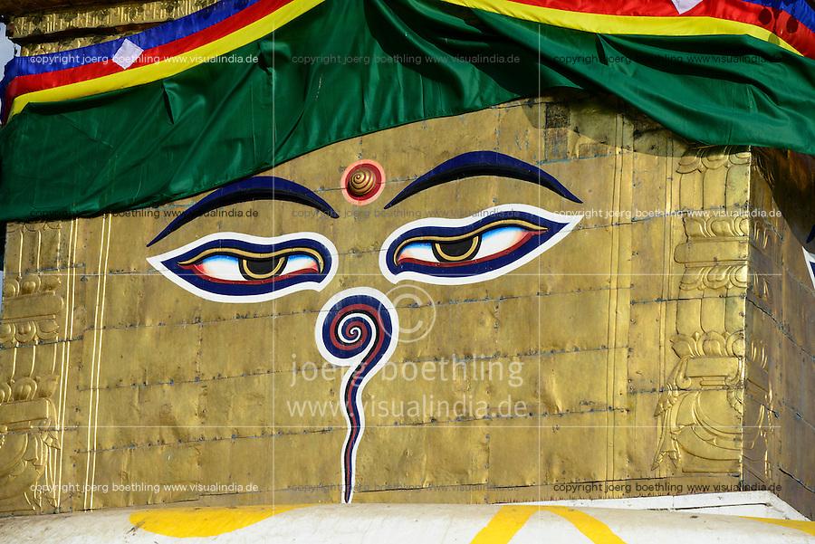 NEPAL Kathmandu, buddhist Swayambhu Stupa
