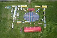 Circus Barlay: EUROPA, DEUTSCHLAND, MECKLENBURG VORPOMMERN  (GERMANY), 15.05.2008:Zirkus Barlay baut sein Zelt in Barth auf, Wanderzirkus, Wagen Zelt, Wanderschaft, Fahrendes Volk, Tradition,  Luftaufnahme, Luftbild, Mecklenburg-Vorpommern, Wagenburg, Vorstellung.c o p y r i g h t : A U F W I N D - L U F T B I L D E R . de.G e r t r u d - B a e u m e r - S t i e g 1 0 2, 2 1 0 3 5 H a m b u r g , G e r m a n y P h o n e + 4 9 (0) 1 7 1 - 6 8 6 6 0 6 9 E m a i l H w e i 1 @ a o l . c o m w w w . a u f w i n d - l u f t b i l d e r . d e.K o n t o : P o s t b a n k H a m b u r g .B l z : 2 0 0 1 0 0 2 0  K o n t o : 5 8 3 6 5 7 2 0 9.C o p y r i g h t n u r f u e r j o u r n a l i s t i s c h Z w e c k e, keine P e r s o e n l i c h ke i t s r e c h t e v o r h a n d e n, V e r o e f f e n t l i c h u n g n u r m i t H o n o r a r n a c h M F M, N a m e n s n e n n u n g u n d B e l e g e x e m p l a r !.