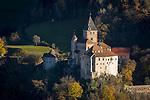 Italy, Alto Adige - Trentino (South Tyrol), Ponte Gardena: Castle Trostburg near Ponte Gardena at Valle Isarco | Italien, Suedtirol (Alto Adige-Trentino), Waidbruck: Die Trostburg bei Waidbruck im Eisacktal
