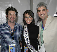 HOMESTEAD, FL - NOVEMBER 19, 2006 : Grey's Anatomy Actor Patrick Dempsey (AKA Dr. McDreamy) and American Idol winner singer Taylor Hicks at the NASCAR Nextel Cup Series Ford 400, at Homestead-Miami Superspeedway in Homestead, Florida.<br /> <br /> People:  Patrick Dempsey, Taylor Hicks