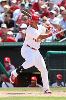 St Louis Cardinals outfielder Jon Jay #19 during a spring training game against the Detroit Tigers at Roger Dean Stadium on March 28, 2012 in Jupiter, Florida.  Cardinals defeated the Tigers 9-5.  (Mike Janes/Four Seam Images)