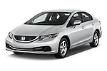 2015 Honda Civic Sedan NGV 2 Door  Angular Front stock photos of front three quarter view