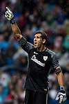 Goalkeeper Gorka Iraizoz Moreno of Athletic Club reacts during their La Liga match between Real Madrid and Athletic Club at the Santiago Bernabeu Stadium on 23 October 2016 in Madrid, Spain. Photo by Diego Gonzalez Souto / Power Sport Images